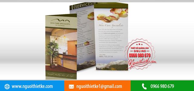 Thiết kế Brochure Spa giá rẻ