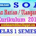DOWNLOAD SOAL PENILAIAN HARIAN KURIKULUM 2013 PAI KELAS 1 DAN BUDI PEKERTI SEMESTER 1 2018/2019