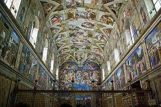 Ambiente Capela Sistina guia turismo portugues - Maravilha Capela Sistina de Michelangelo
