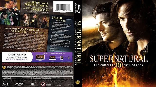 Supernatural Season 10 Bluray Cover