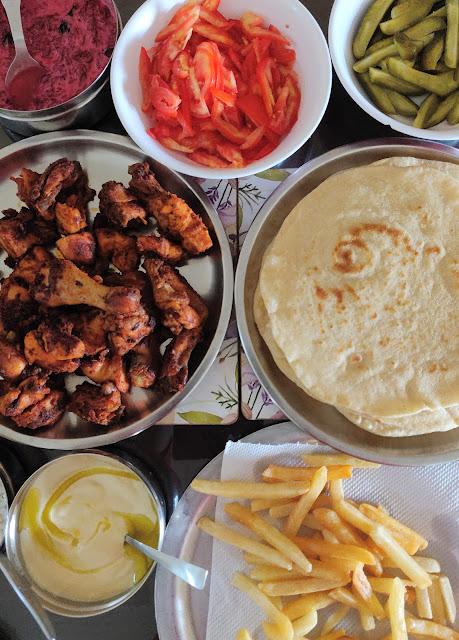 Shawarma Table