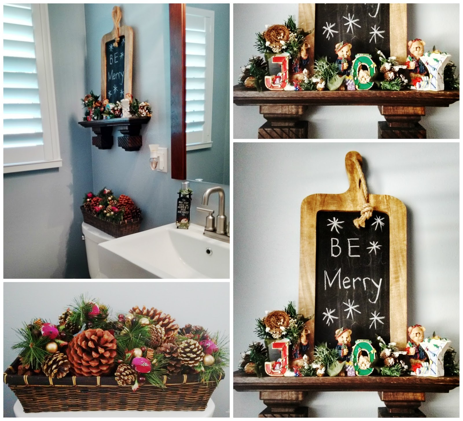 Christmas decorating rustic traditional classic holiday decor