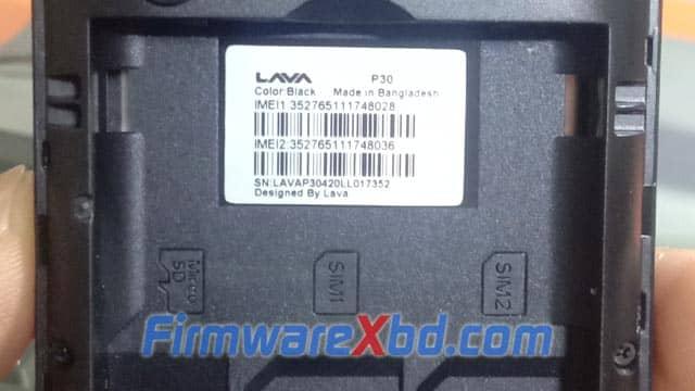 Lava P30 Flash File Download