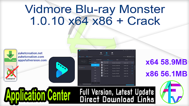 Vidmore Blu-ray Monster 1.0.10 x64 x86 + Crack