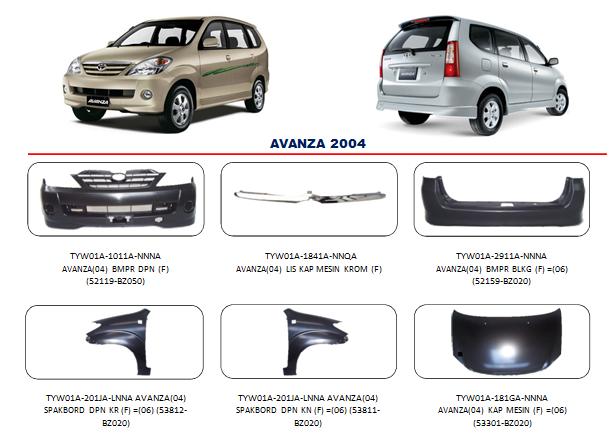 Bemper Toyota Avanza 2004