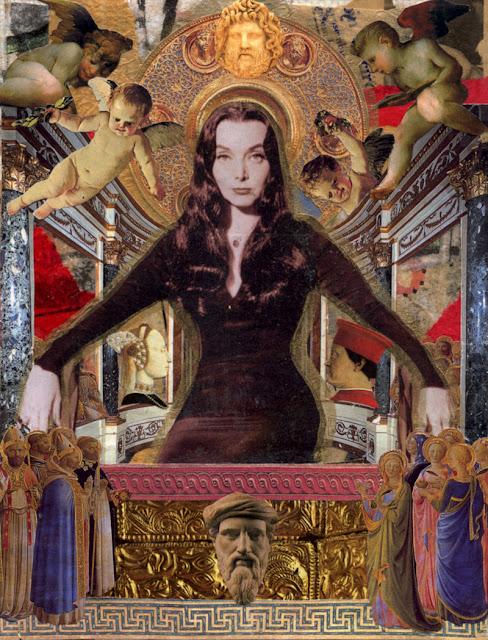 Celebrity Icon collage -- Morticia Adams