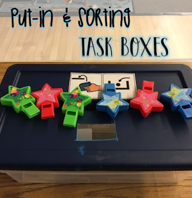 Put-in & Sorting Task Boxes for Special Education