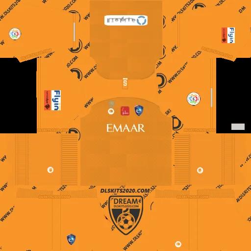 Al hilal Fc kits 2019-2020 (Saudi Arabia) Nike in Kit Dream League Soccer 2019 (Away Goalkeeper)