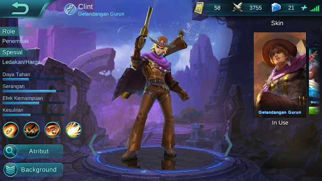 Hero Clint ( Gelandangan Gurun ) High Attack Build/ Set up Gear