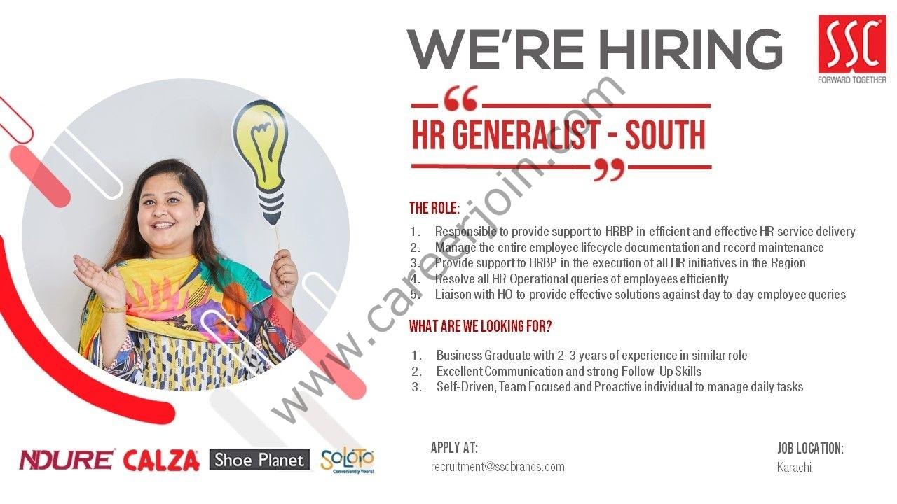 Service Sales Corporation Limited SSC Jobs HR Generalist