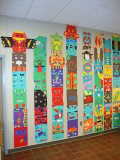 American Indian totem pole craft idea for the elementary classroom.