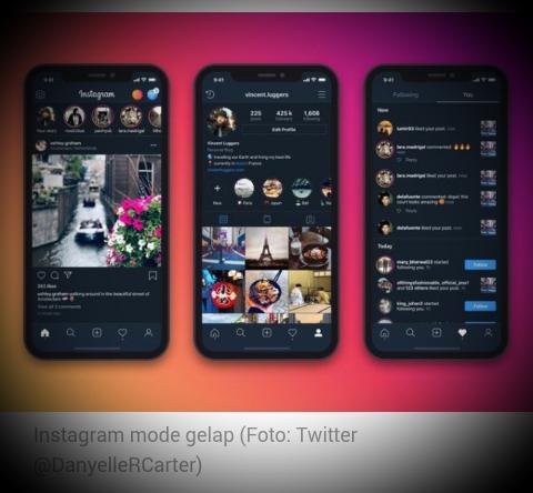 Instagram Resmi Rilis 'Dark Mode', Ini Cara Mengaktifkannya