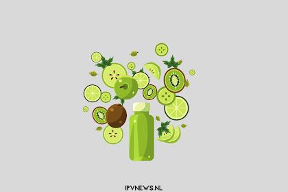 Consumptie van groene smoothies, de huidige trends in gezonde levensstijl