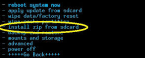 Install Zip From SDcard Android