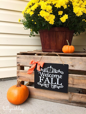Decorating With Chalkboards Crates Pumpkins