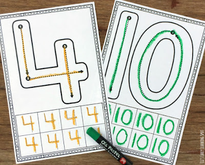 Learn proper number formation with these free cards from Liz's Early Learning Spot!