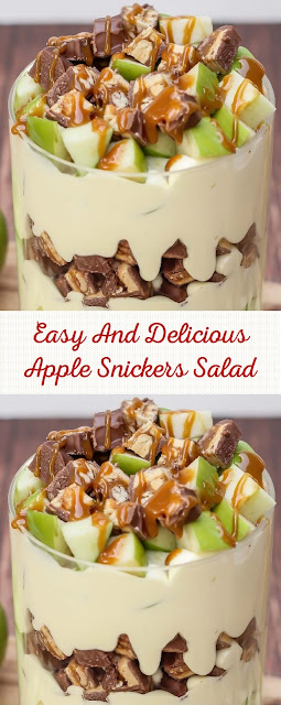Easy And Delicious Apple Snickers Salad