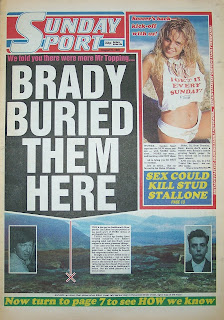 Vintage Sunday Sport newspaper from 9th August 1987