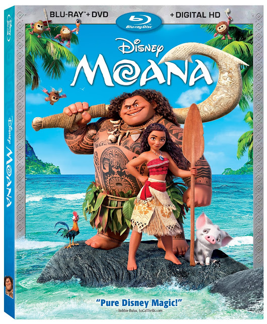 Disney's Moana is Available Now on Blu-ray 3D, Blu-ray, DVD and On-Demand!