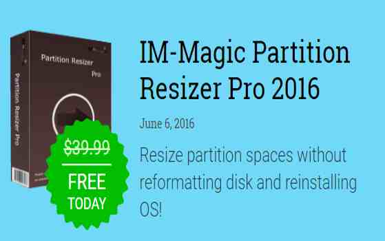 resize partition spaces