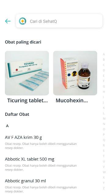 cek obat aplikasi sehatQ