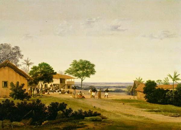 Paisagem Brasileira com Figura ~ Frans Post - Holandês - Barroco Brasil Colonial