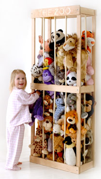 Ever Clever Mom - DIY Stuffed Animal Storage from an IKEA ...