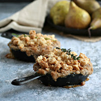 Individual Pear and Thyme Crumbles