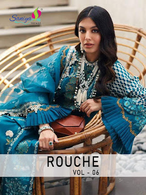 Pakistani Suits wholesaler | Saniya Trendz Rouche vol 6