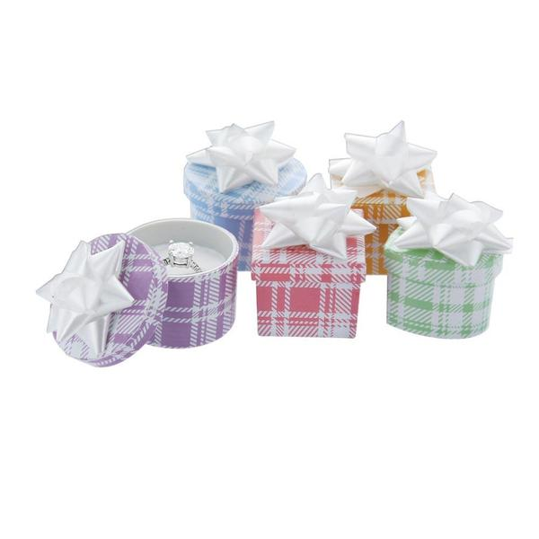 Shop Wholesale Assorted Plaid Color Hat Box at Nile Corp