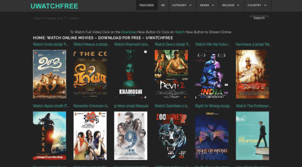 uwatchfree Hollywood Dubbed in Hindi, Bollywood Movies Download & New Domain Link