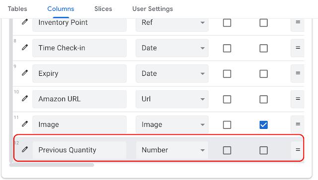 AppSheetでテーブルに列を追加する