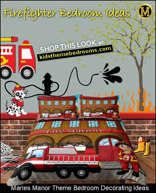 fire engine bedroom ideas fire station bedding flames wall decals fire truck rug
