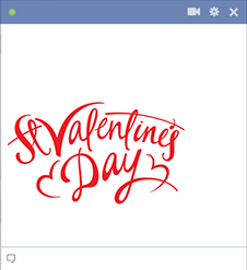 Saint Valentine's Day FB sticker