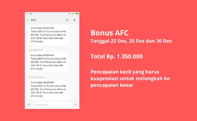 Bonus Bisnis AFC Life Science