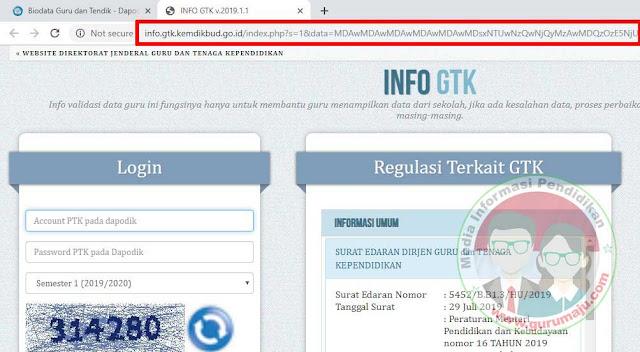 Cek info GTK Tanpa Akun PTK
