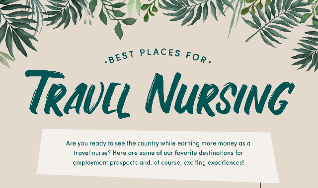 Best Places for Travel Nursing #infographic
