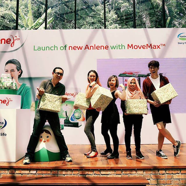 We're a happy bunch, thanks to Anlene Malaysia!