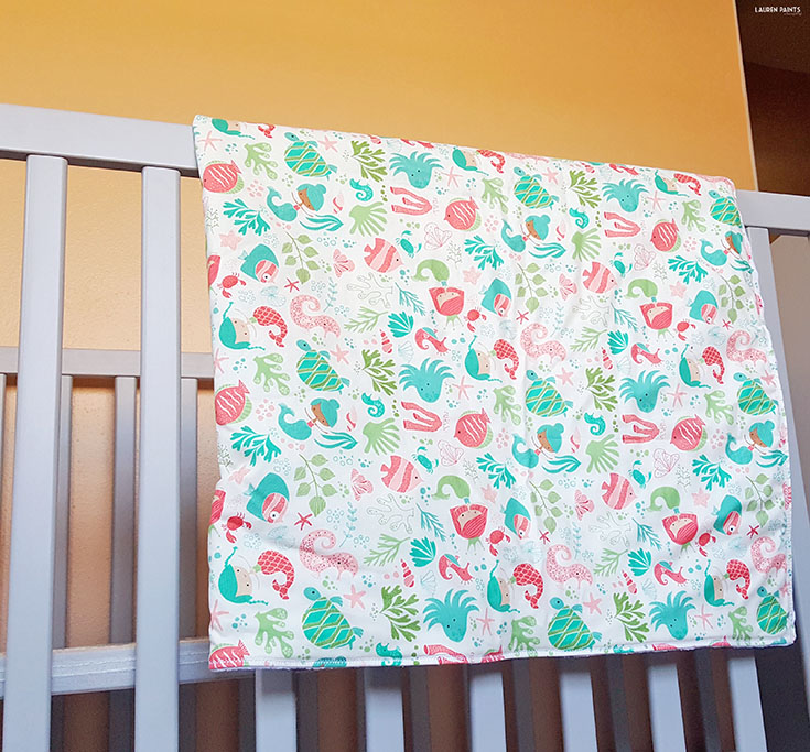 Do you love mermaids as much as I do? Check out this awesome little handmade shop! Mend the Fabric makes the best handmade blankets while also providing phenomenal customer service, two things every new mama can appreciate!