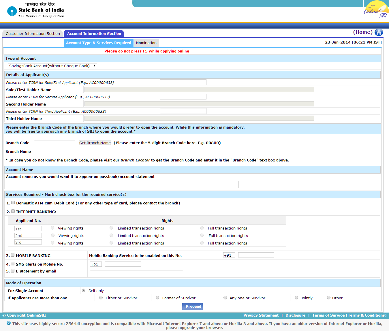 how to get bank statement from sbi