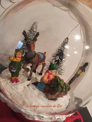 scena natalizia miniaturizzate