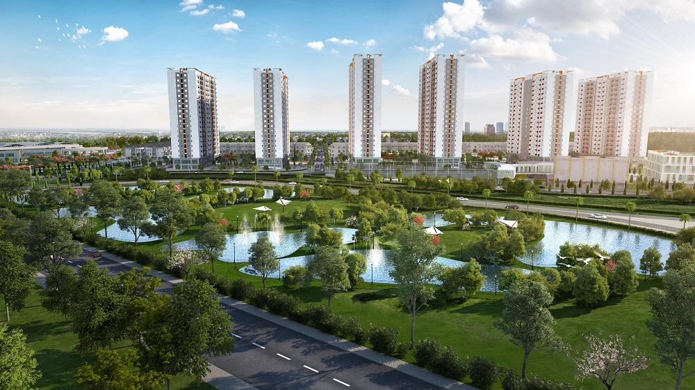 Công viên cây xanh bao quanh Khu Đô Thị Him Lam Green Park