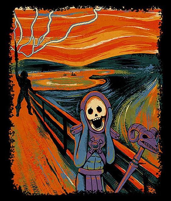 El grito de Munch - Versión He-Man