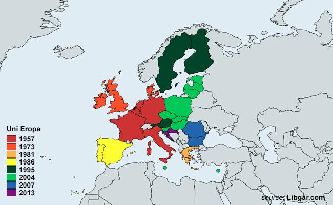 Peta Anggota Uni Eropa