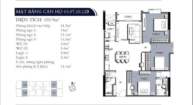 Thiết kế căn hộ điển hình ONE 18