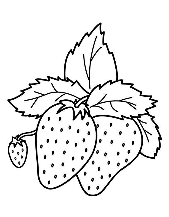Hình tô màu hai quả dâu tây