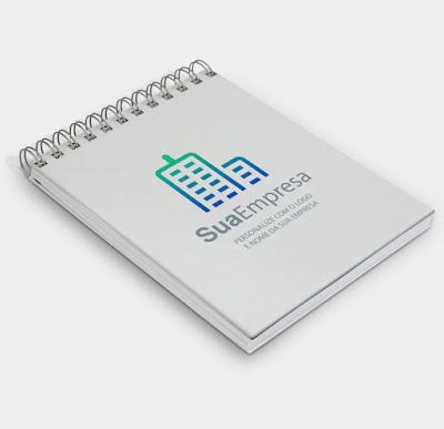 bloco de anotação modelo exclusivo pra empresas
