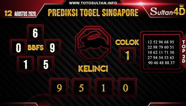 PREDIKSI TOGEL SINGAPORE SULTAN4D 12 AGUSTUS 2020