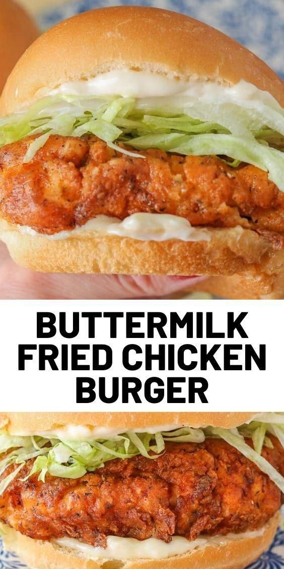 Crispy Buttermilk Fried Chicken Burger