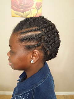 Twists and Side Cornrows Mohawk Natural Hair Hairstyle DiscoveringNatural